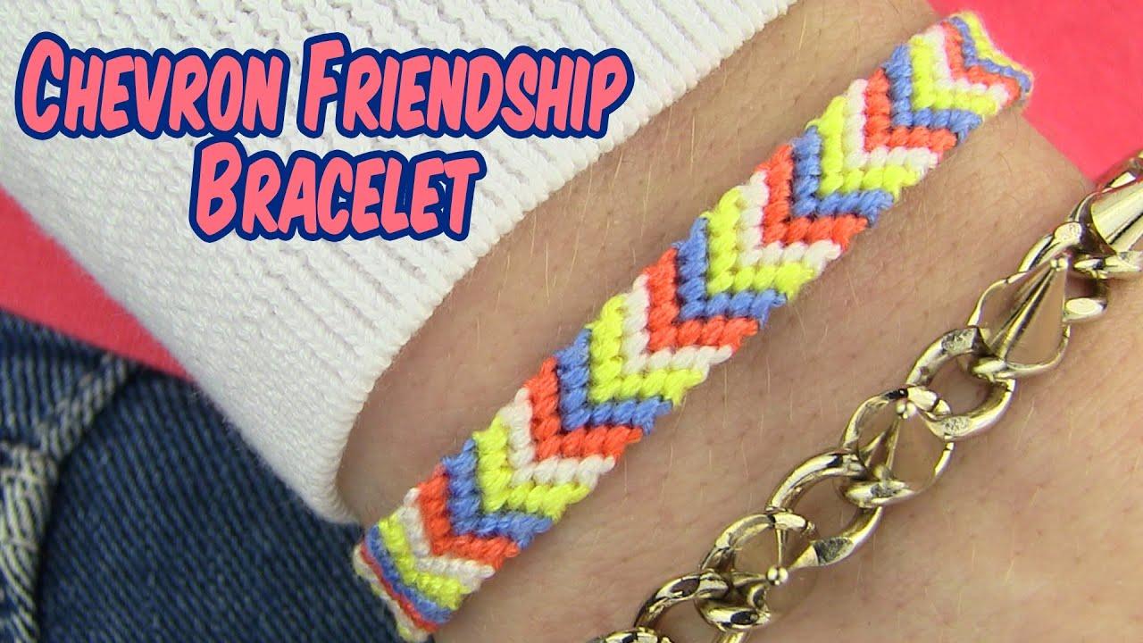Diy chevron friendship bracelet youtube Diy nail art ideas youtube