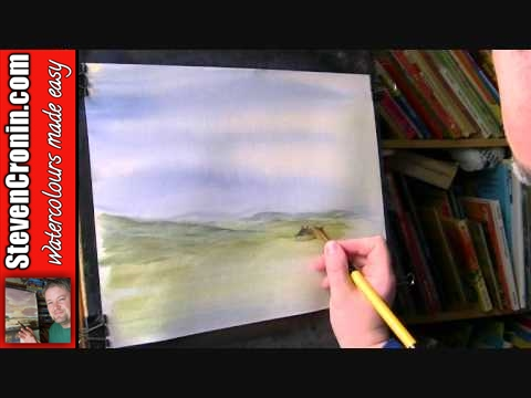 Swaledale, North Yorkshire Watercolour Painting Demo Part 1