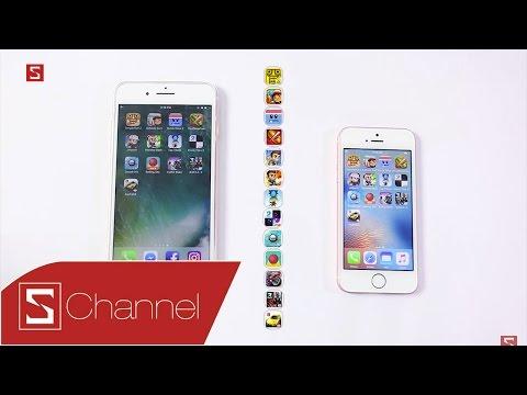 Schannel - Speedtest iPhone 7 Plus vs iPhone SE: Cuộc chiến giữa hai ông vua tốc độ