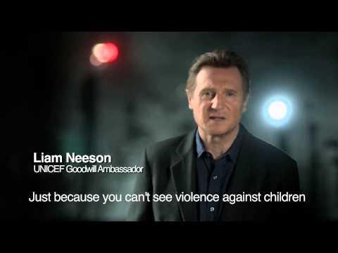 Đại sứ thiện chí của UNICEF, Liam Neeson Kêu Gọi Chống Lại Bạo Lực Trẻ Em.
