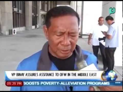 [News Life] VP Binay Assures Assistance to OFW in the Middle East [05|26l14]