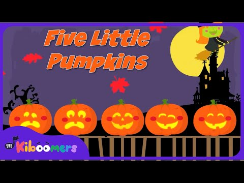 5 Little Pumpkins Sitting on a Gate :  Halloween Songs for Children
