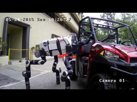 RoboSimian in Action at 2015 DARPA Robotics Finals