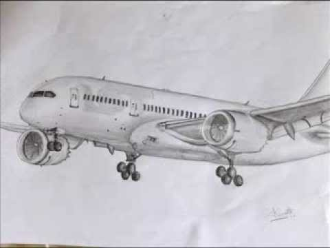 My Commercial Airplane Drawings Youtube