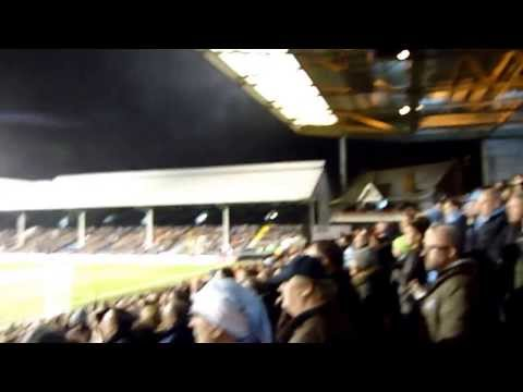 Fulham v Manchester CIty 21 Dec 2013 - Zabaleta song after 4th goal