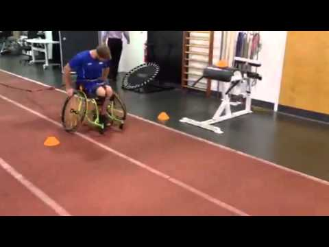 Wheelchair Tennis Sprint Work with band resistance