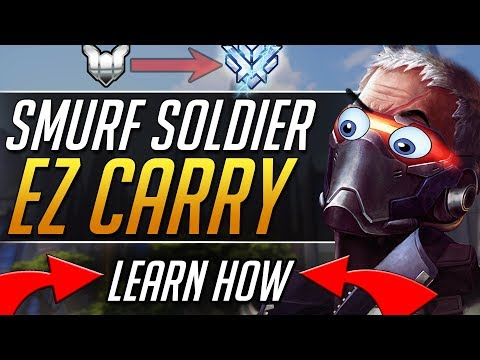 SOLDIER SMURF - Pro Soldier Tips Gameplay Guide | Overwatch Guide