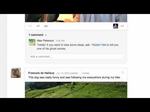 Google+: Mention someone in a post
