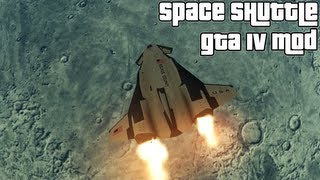 Grand Theft Auto IV NASA Space Shuttle And MOON (MOD) HD