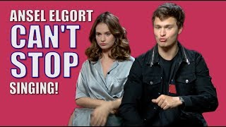 Baby Driver's Ansel Elgort literally can't stop singing!