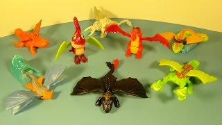 2014 HOW TO TRAIN YOUR DRAGON 2 SET OF 8 McDONALD'S HAPPY