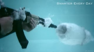Smarter Every Day: AK-47 Underwater at 27,450 FPS