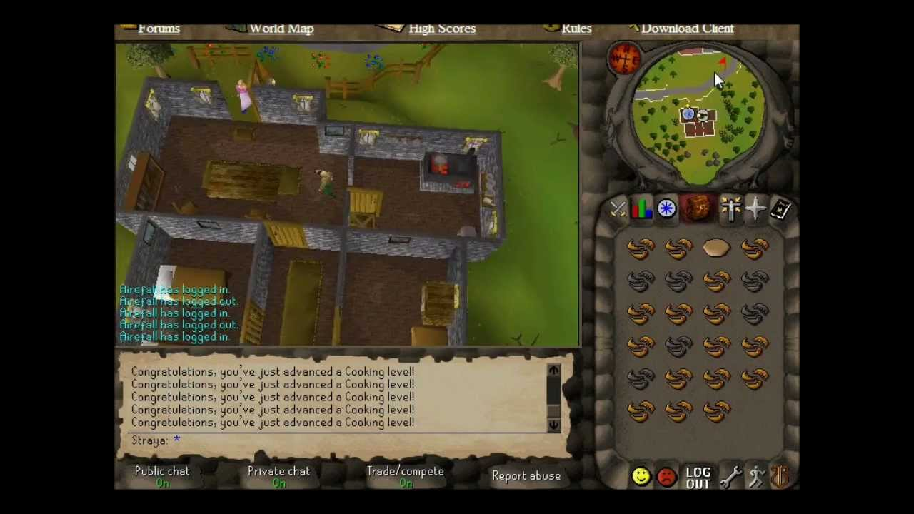 Runescape 2007 Redberry Pie Guide Knights Sword Live