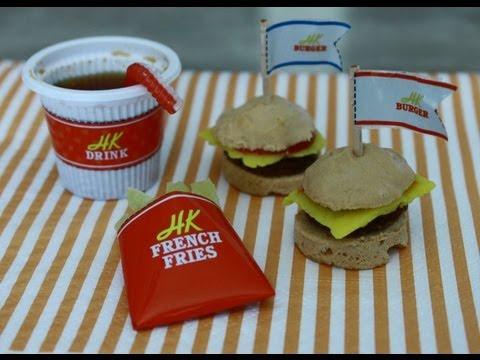 Curiosidades do Japão:Mini Hamburgers kit , Comida em miniatura.