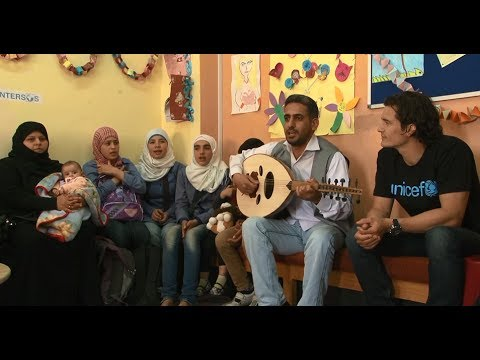 UNICEF Goodwill Ambassador Orlando Bloom visits Syrian children in Jordan