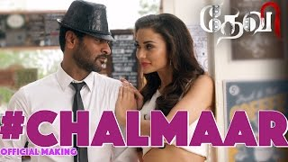 Abhinetri  Telugu Movie Chalmaar Song Making