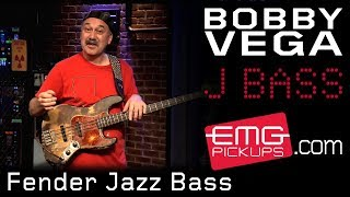 Bobby Vega on Fender Jazz Bass and Acoustic 360 - EMGtv