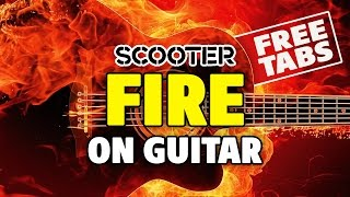 Scooter - Fire (acoustic fingerstyle guitar, FREE tabs, speed x2)