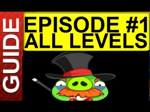 Angry Birds Seasons Abra-Ca-Bacon Episode 1 Levels 1-1 to 1-15 Abra Ca Bacon  All Levels .