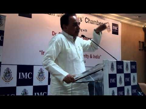 Dr  Subramanian Swamy speech on Irag Crisis and Global Security at Mumbai on 8th July 2014