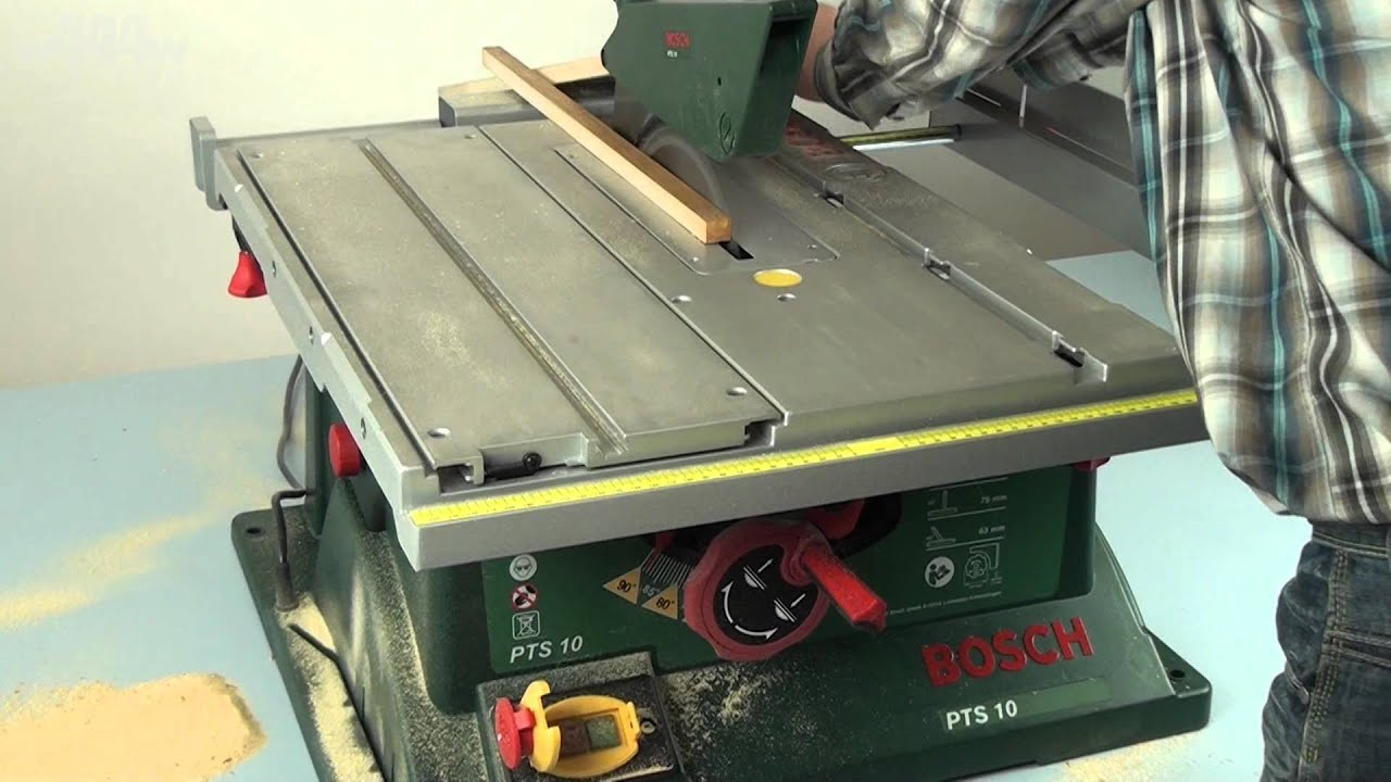 bosch pts 10 table saw w444w eng youtube. Black Bedroom Furniture Sets. Home Design Ideas