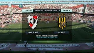 Fútbol en vivo. River - Olimpo. Fecha 16. Torneo Primera División 2014. FPT.