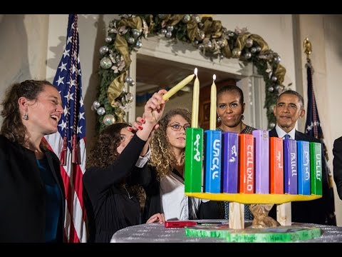 President Obama Speaks at a Hanukkah Reception