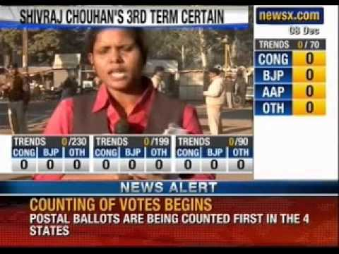 Assembly election results 2013 live 2 : Counting begins in four states - NewsX