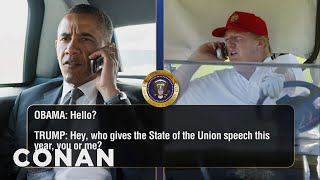 Donald Trump Keeps Calling Barack Obama  - CONAN on TBS