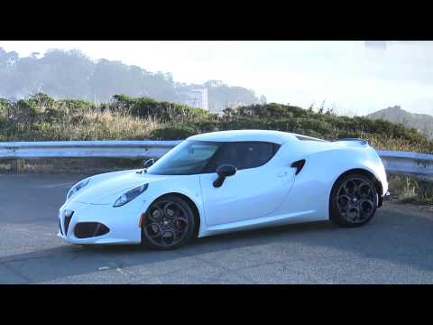 Alfa Romeo 4C US version on the road