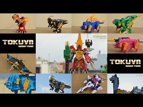 All DX Gattai Zyuden Sentai Kyoryuger 2013! DX 獣電戦隊キョウリュウジャー! Power Rangers Dino Charge Megazord!