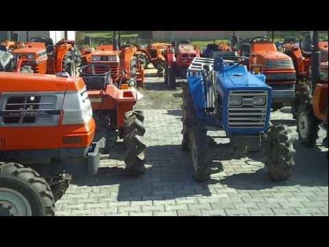 Mini traktory produkcji japońskiej. www.akant-ogrody.pl