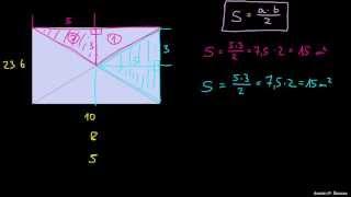 Ploščine trikotnikov v pravokotniku so enake