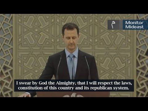 Syria President Bashar al-Assad Inauguration (English Subtitles)