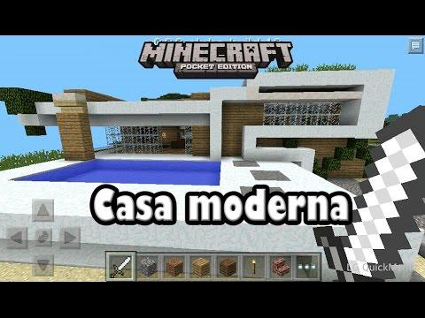 Descarga Casa Moderna Para Minecraft Pe 0 9 5 Alpha Youtube