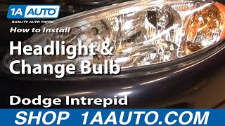 How To Install Replace Headlight And Change Bulb Dodge
