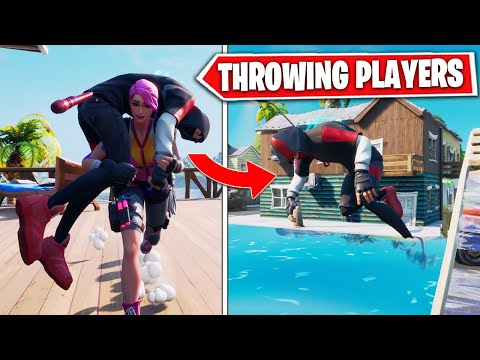 THROWING ENEMIES OFF THE MAP in Chapter 2 Fortnite - Season 11 Carrying Enemies & Throwing *EPIC*