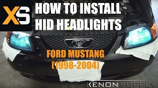 How To Install Bi-Xenon HID Ford Mustang 1998-2004