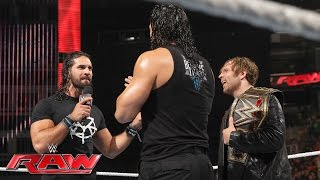 Dean Ambrose celebrates his WWE World Heavyweight Championship victory: Raw, June 20, 2016