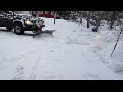 Homemade snow plow test!