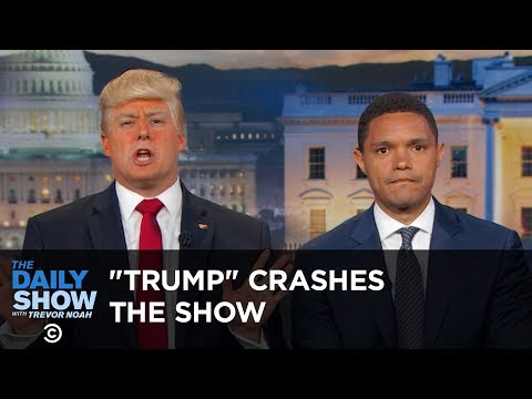 President Trump Crashes The Daily Show The Daily Show