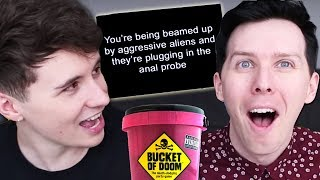 Dan and Phil play BUCKET OF DOOM!