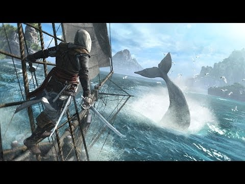 Assassin's Creed Black Flag Big Ship Attack (gameplay)