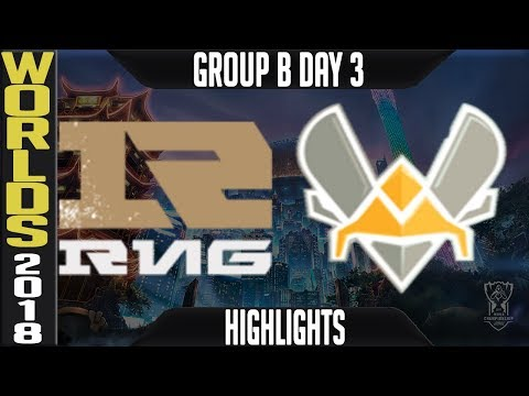 RNG vs VIT Highlights | Worlds 2018 Group B Day 3 | Royal Never Give Up(ChinaLPL) vs Vitality(EULCS)
