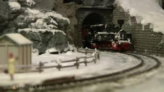 Modellbahn Winterlandschaft von Hans Louvet und seinem Modelspoorteam