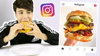 i ate foods from my INSTAGRAM EXPLORE PAGE for 24 hours