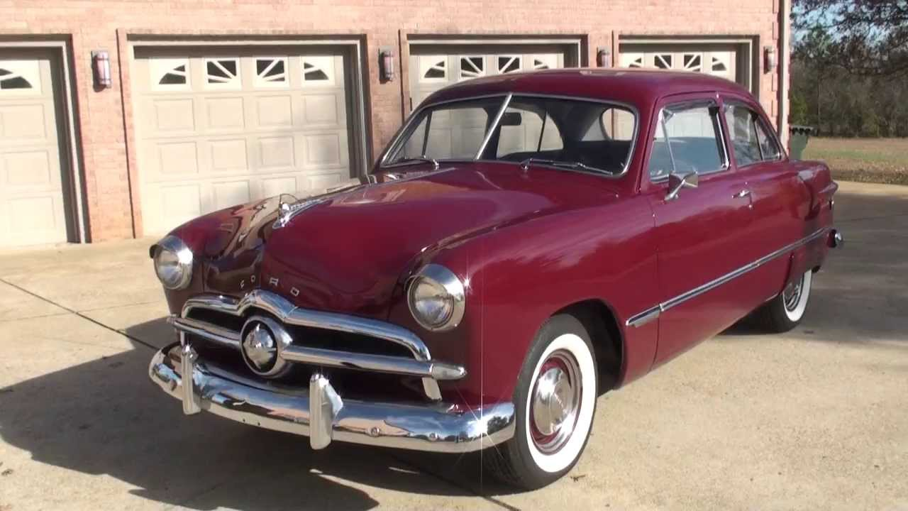 Hd video 1949 ford 49 custom tudor sedan for sale see www for 1949 ford two door sedan