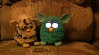 Old Furby meets new 2012 Furby- lots to say!