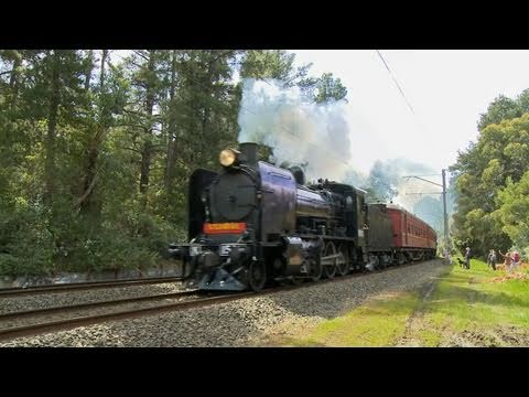 Steamrail  Australian Steam Trains K153 & K190 - Mitcham to Mooroolbark Part 2
