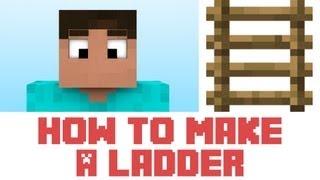 Minecraft Tutorial How To Make A Ladder In Minecraft
